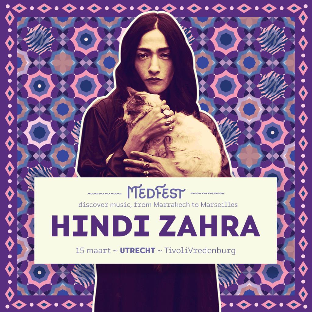 Hindi Zahra - MedFest :: 15 maart - TivoliVredenburg Utrecht